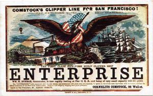 Yankee Clipper Sailing Card Replica - Enterprise - First Class New York Built