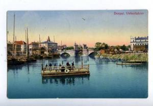 158244 Estonia Tartu DORPAT Ferry Ueberfahrer Vintage postcard