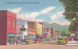 North Carolina Andrews Old Cars On Main Street