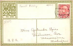 Artist Josef Diveky / Kaulitz Puppen, Wiener Werkstaette postal used unknown ...