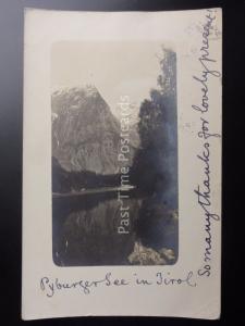 Austria PYBURGERSEE in TIROL c1904 RP Postcard