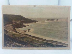 Vintage Postcard Clonque Bay and Fort Alderney