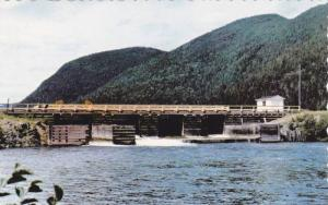 Waterfront View, Matane Lake Dam, Matane Reserve, Matane, Quebec, Canada, PU-...