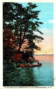 New Hampshire Canoeing On Lake Winnepesaukee Curteich
