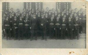 Romania inter-war 1935 military school prom signature uniforms photo postcard