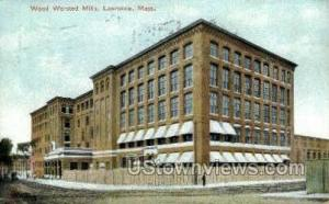 Wood Worsted Mills Lawrence MA 1908