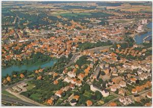 Haderslev, Denamrk, aerial view, unused Postcard