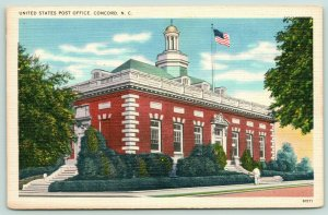 Concord North Carolina~Quoins & Cupola on US Post Office~Try the Sidesteps~1940s