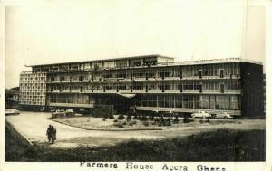 ghana, ACCRA, Farmers House (1963) RPPC Postcard
