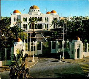 CI01288 libya tripoli giamuria palace traditional arab architecture flags