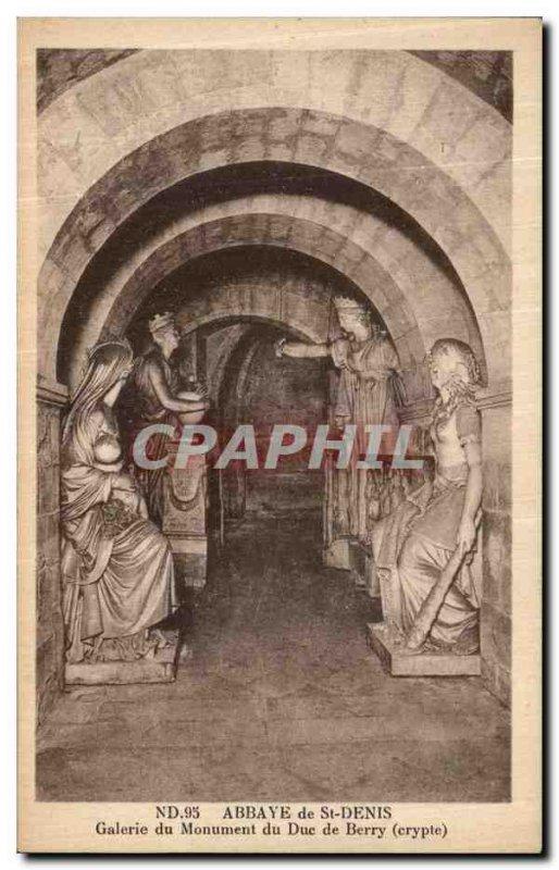 Postcard Abbey of Saint Denis Duke Monument Gallery Berry Crypt