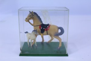 2 Toy Horses Figurines Vintage Collectible