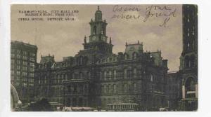 Hammond Bldg. City Hall and Majestic Bldg. From Det. Opera House, Detroit, Mi...