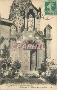 Old Postcard Le Puy Rocks Espally of the Chapel of St. Joseph Entree