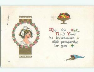 Divided-Back NEW YEAR SCENE Great Postcard W7417