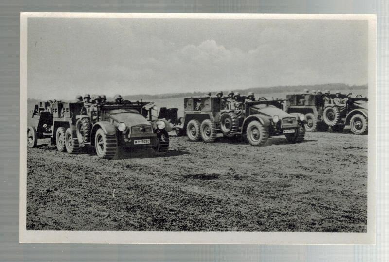 Mint WW 2 Germany Wehrmacht Motorized Artillery Unit real picture Postcard RPPC