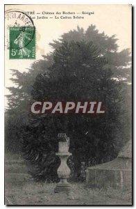 Postcard Old Glass Chateau des Rochers Sevigne Gardens Le Cadran Solaire