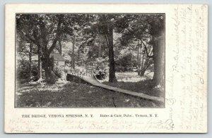 Verona Springs New York~Ladies on the Bridge~Wooden Sidewalk Path in Woods~1907