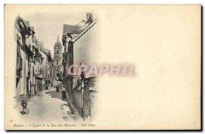 Old Postcard Rennes S Church Street Ste Melaine