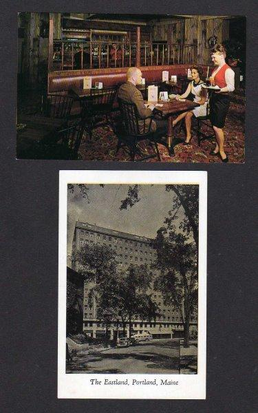 ME Lot 2 Eastland Hotel Portland Maine Postcards Dunfey Family Carte Postale
