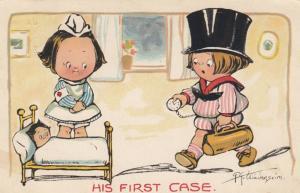 Grace DRAYTON-WIDERSEIM, 1910; Children, DR., Nurse & patient, His First Case