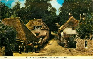 Cockington Forge Devon UK pm  old village Postcard