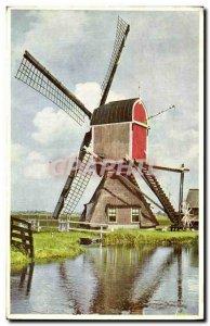 Postcard Old Windmill Holland