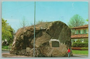 Glen Rock New Jersey~The Rock~Monument with Plaque~Postcard~1982
