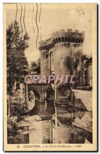 Old Postcard Chartres Gate Guilaume