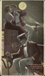 New York City Adv CD Durkee & Co 2 South Street c1905 Postcard