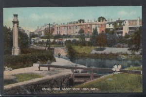 Somerset Postcard - Canal From Abbey View Lock, Bath   HP102