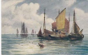 EASTBOURNE , England, 1900-10s ; Becalmed Fishing Boats ; TUCK 6277