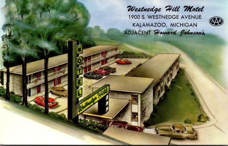 Michigan Kalamazoo Westnedge Hill Motel 1959