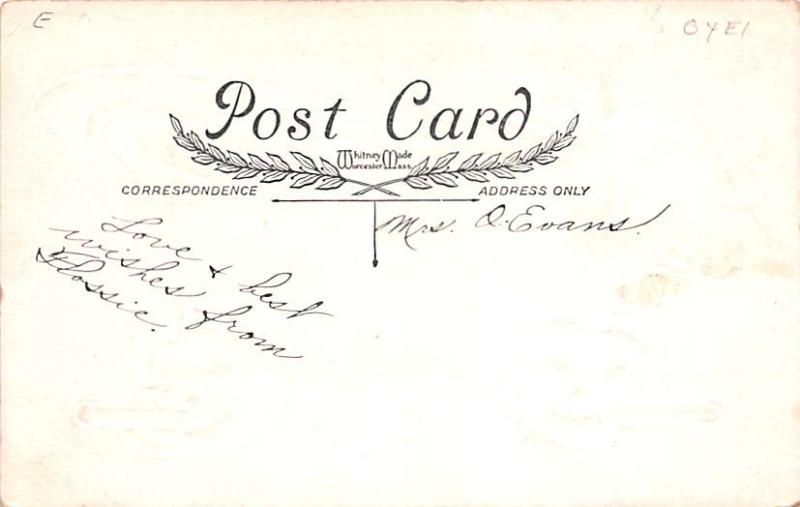 Halloween Post Card Old Vintage Antique Whitney Made Publishing Writing on back