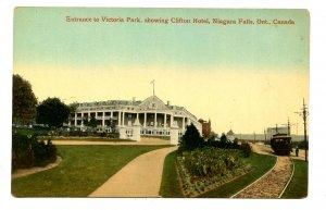 Canada - Ontario, Niagara Falls. The Clifton Hotel, Victoria Park Entrance