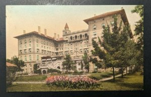 Mint Vintage The Antlers Hotel Colorado Springs CO Hand Colored Postcard