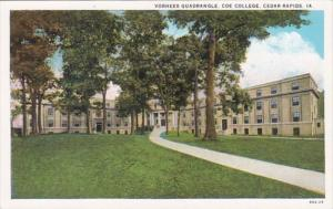 Iowa Cedar Rapids Vorhees Quadrangle Coe College Curteich