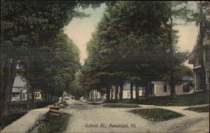 Randolph VT School St. c1910 Postcard