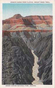 Arizona Grand Canyon Granite Gorge From PLateau Bright Angel Trail Curteich