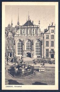 Artus Court Meeting House Danzig Gdansk Poland unused c1920