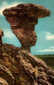 Buhl Idaho Balanced Rock Postcard