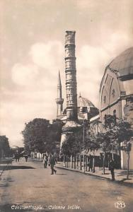 Turkey Old Vintage Antique Post Card Colonne brulee Constantinople Real Photo...