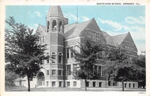 Illinois Il Postcard 1939 GENESEO South Side School Building
