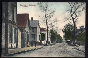 Nova Scotia YARMOUTH Looking up Collins Street pm1911 NS Souvenir Post Card - DB