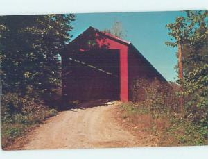 Pre-1980 COVERED BRIDGE Limedale - Near Cloverdale & Greencastle IN H7605