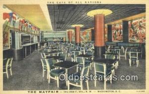 The Mayfair, Washington DC, USA Hotel Postcard Motel Post Card Old Vintage An...