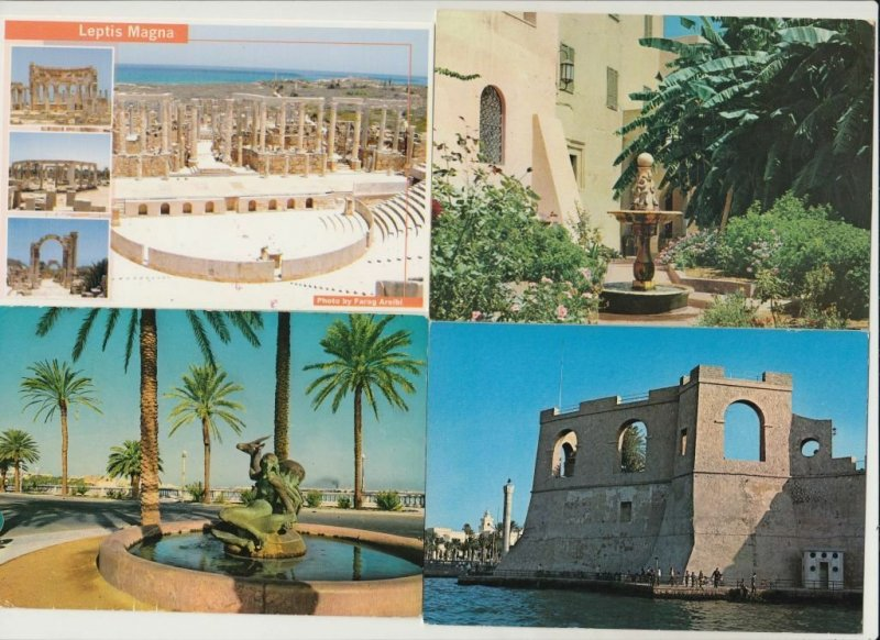 LIBYA LIBYE INCL. POSTALLY USED 32 CARTES POSTALES (mostly 1960-2000 period)