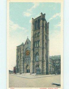 W-border CHURCH SCENE Boston Massachusetts MA AD1907