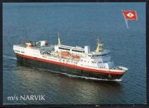 Ship M/S Narvik colour card  unused