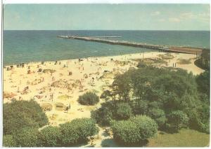 Poland, SOPOT, Plaza i molo, 1950s unused Postcard